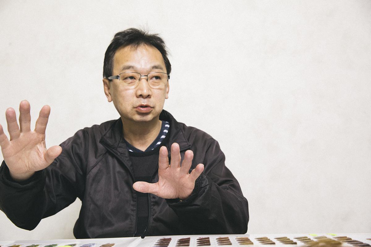 染色負責人 第二事業部 染髮色彩設計創造者 加藤 祐二   先生