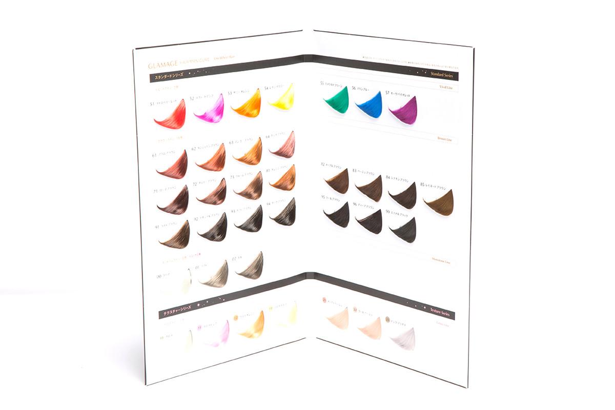 美髮沙龍專業用染髮用色片卡例2